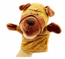 Baby Glove Toy Animal Hand Puppets Plush Toys Wooden Dolls Puppet For Kids Baby Glove Animal Hand Puppets(China (Mainland))