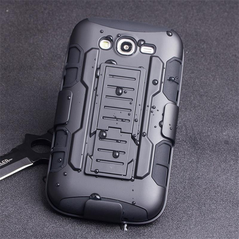 Armor Impact Shockproof Hybrid Hard Stand Case for Samsung Galaxy Win Duos GT-I8552 I8550 Back Cover Belt Clip Mobile Phone Case(China (Mainland))