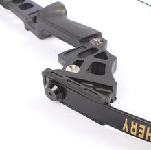 Straight Bow Hunting fishing Long Bow Recurve Bow Fiberglass Limb Foldable Aluminum Handle