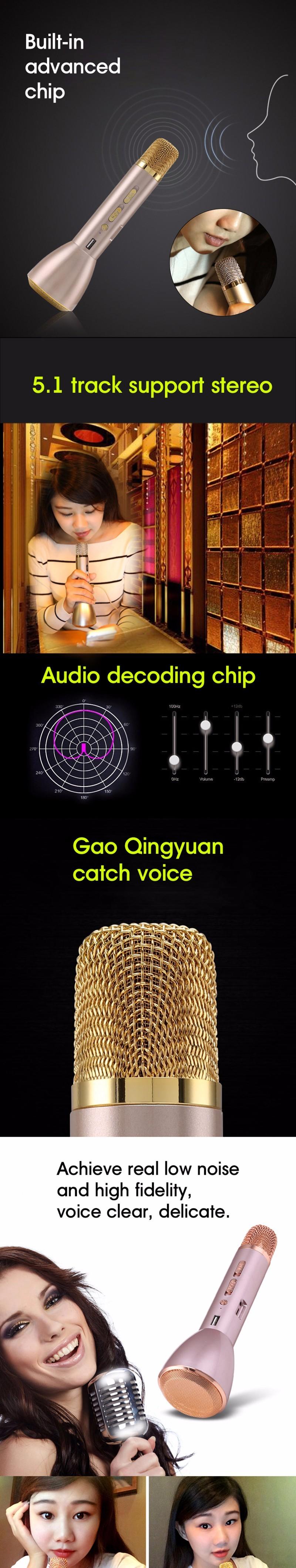 ถูก Enchante K088เมจิกคาราโอเกะไมโครโฟนไร้สายแบบพกพาบลูทูธไมโครโฟนที่มีบลูทูธลำโพงธนาคารกลางแจ้งKTV
