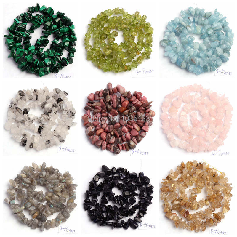 Free Shipping 5 8mm Natural 18 Type Material Stone ...
