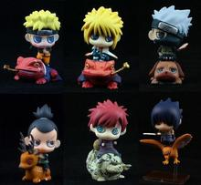 Anime Naruto 6PCS/SET Shippuden Last Gaara Sasuke Minato Zara Kakashi PVC Action Figures Collectible Model Toys - mark store