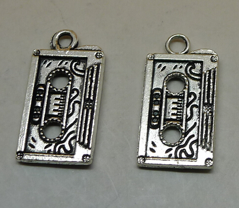 36pcs Antique Silver Tone Base Metal (Alloy) Charms Pendants Connectors Findings - Tape, 23x13mm(China (Mainland))