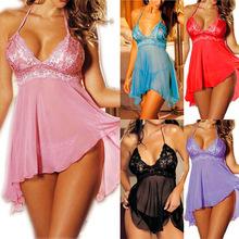 Hot Women sexy Nightwear Lingerie Sleepwear Robes Ladies Plus size Intimate night Gown Exotic Apparel Babydolls Chemises XXXL