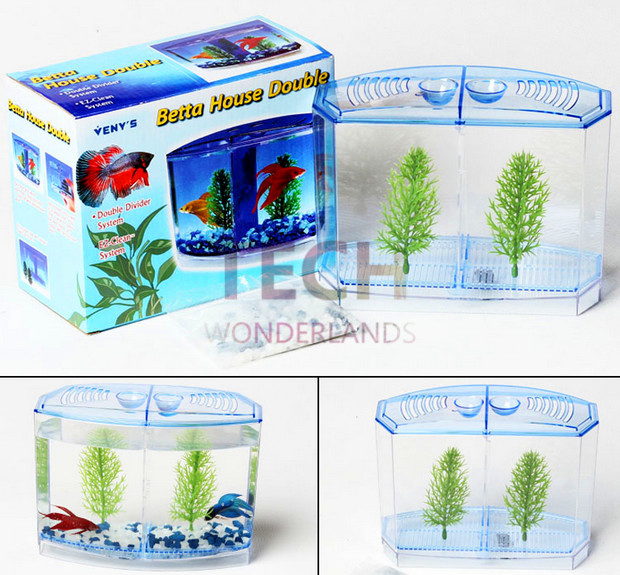 Free shipping usa pennp lax betta house double fighting for Double fish tank