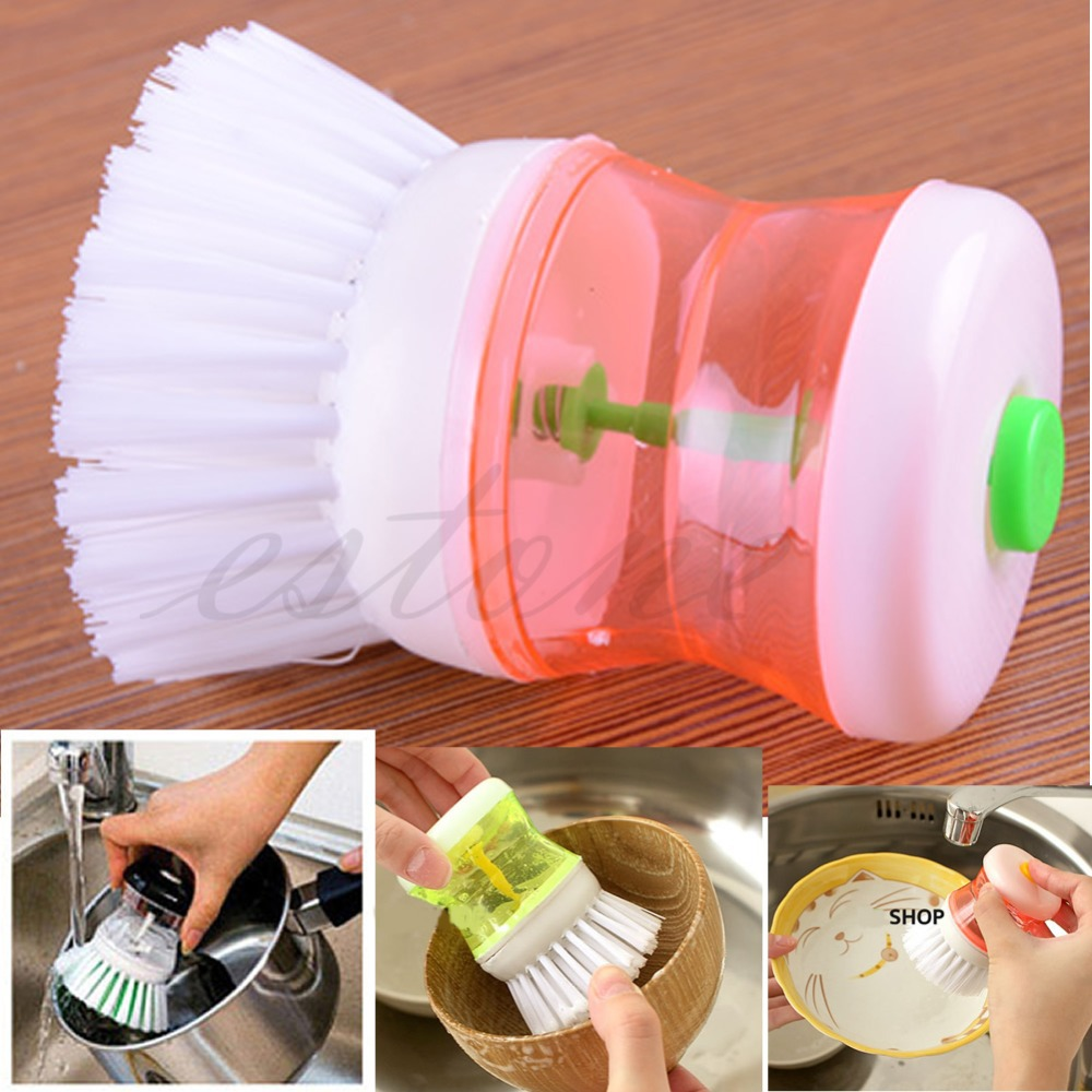 U119 Free Shipping Kitchen Wash Tool Pot Pan Dish Bowl Palm Brush Scrubber Cleaning Cleaner New(China (Mainland))