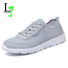 Men Shoes 2017 Summer Fashion Breathable Men Casual Shoes Lace Up High Quality Flat Mesh Shoes Plus Size 35-48(China (Mainland))