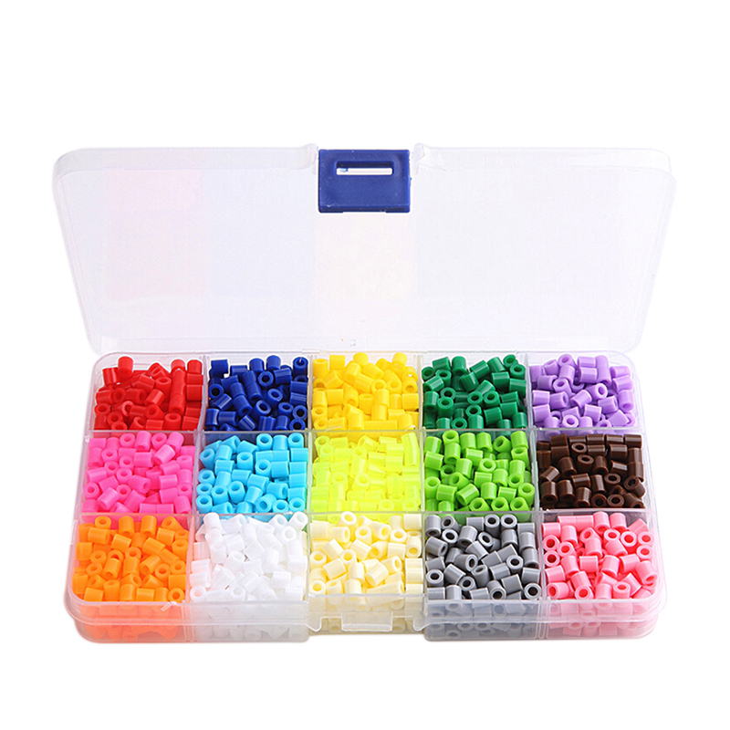 5mm 15 Colors 1500Pcs Pegboard Hama Peas Beads Jigsaw Puzzle Diy Educational Toys Gift For Kids Children Free Shipping(China (Mainland))