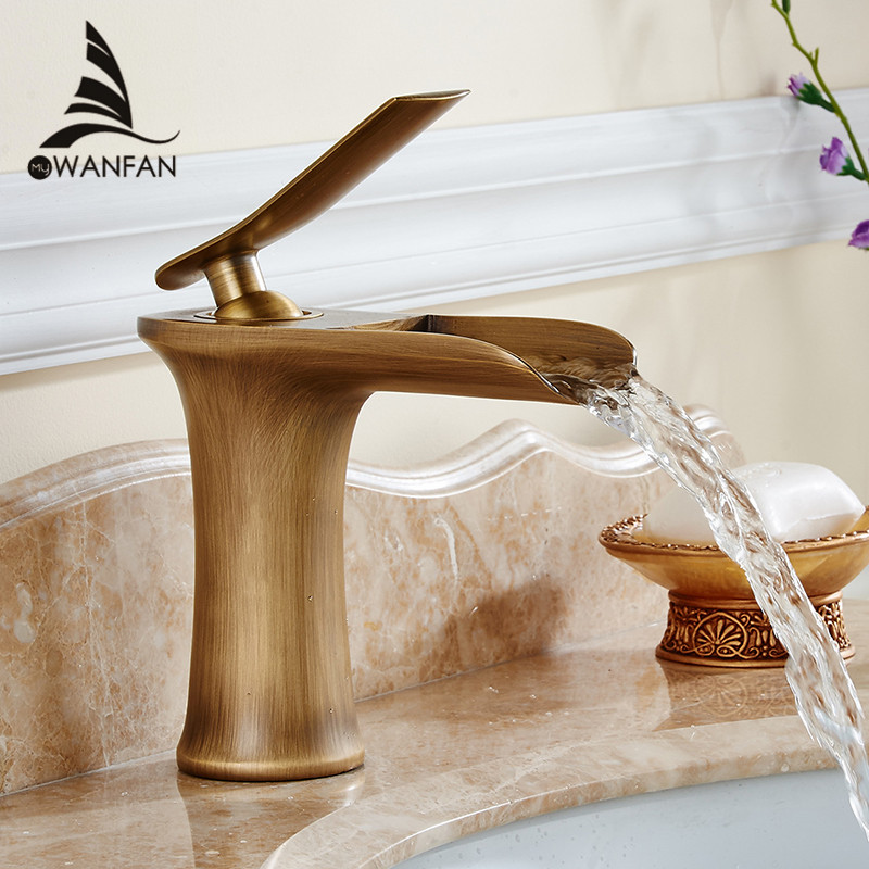 Free shipping Chrome and white color Finish Waterfall Bathroom Faucet Bathroom Basin Mixer Tap with Hot and Cold Water 6009(China (Mainland))