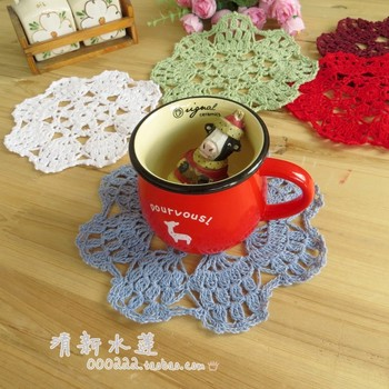 Fashion design 20 pic/lot 17cm round cotton crochet lace felt decoration mat table mat pad for dinning table coaster IKEA design