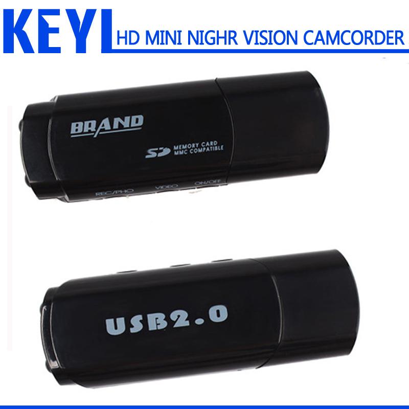 new Spy MINI CAMERA Camcorder Bewegingsdetectie Nachtzicht Cam HD Mini DV DVR U Disk USB Camera voice recorder(China (Mainland))