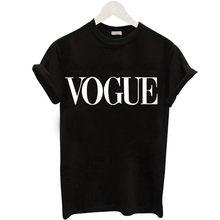 Plus Size S-XL Harajuku Summer T Shirt Women New Arrivals Fashion VOGUE Printed T-shirt Woman Tee Tops Casual Female T-shirts(China)