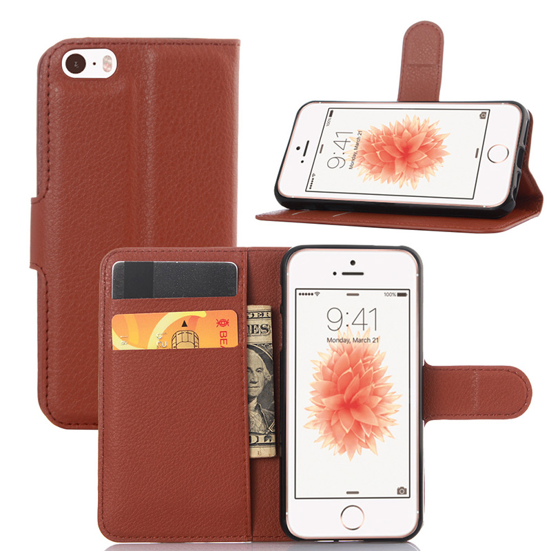 Coque For iPhone 5S Case Luxury Wallet PU Leather Case for Apple iPhone 5 5S SE Fundas Phone Cover For iPhone5 Flip Stand Capa(China (Mainland))