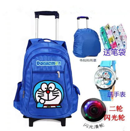 The new children school bags backpack child mochila infantil bolsas male and female students 1-6 grades trolley kid bags &