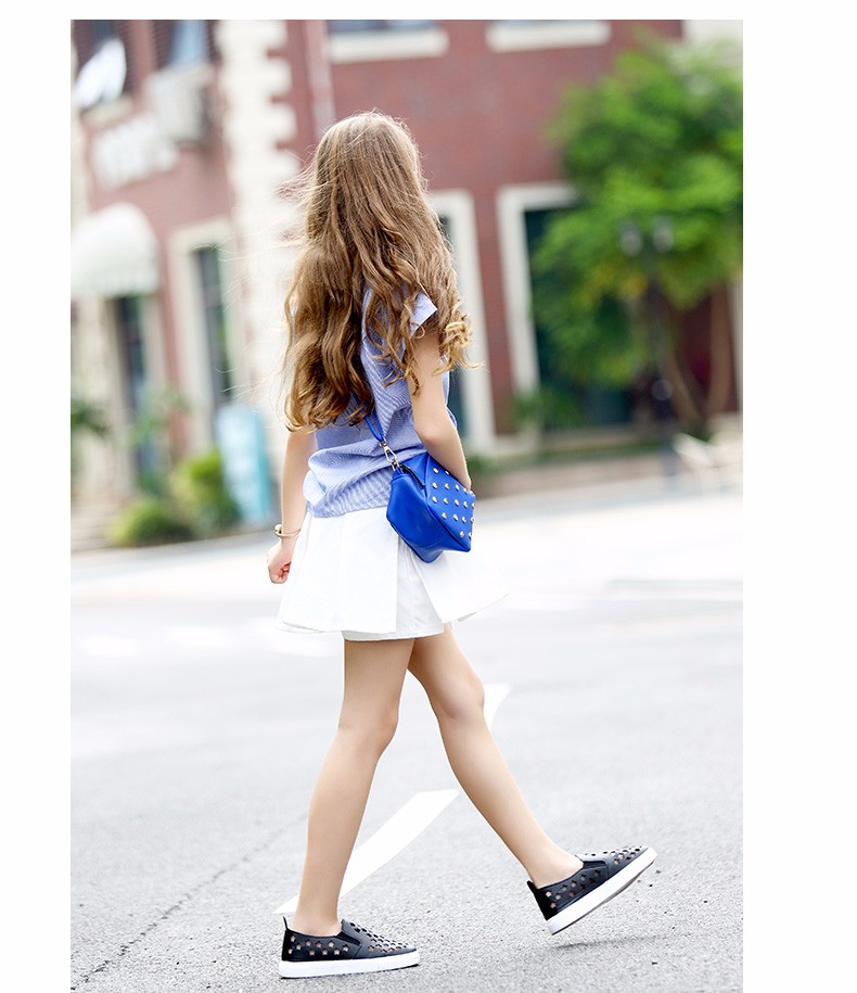 2016 Summer Teenage Girls clothing Blouse for Baby Girls Tops 5 6 7 8 9 10 11 12 13 14 T Years Old Kids Top Shirts Denim Shirts