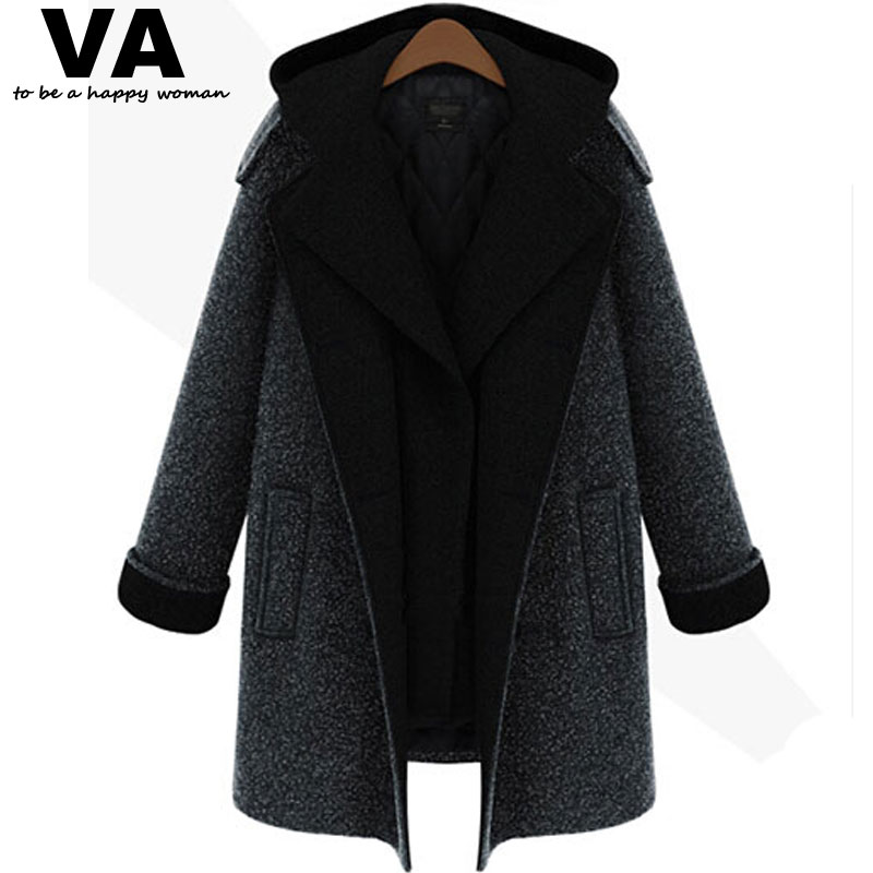 winter jacket women Coat 2015 Design New Winter Trench Women Black Plus Size 4XL 5XL Warm Thicken Jacket Fashion Overcoat(China (Mainland))