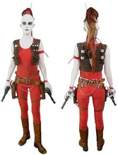 Star Wars Aurra Sing Cosplay Costume Custom Made Adult Halloween Outfit D1111