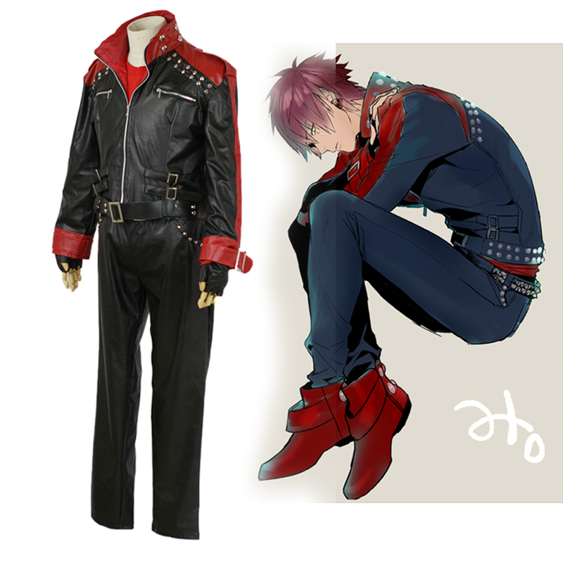 Anime Characters Leather Jacket : Dmmd dramatical murder mizuki cosplay costume for men