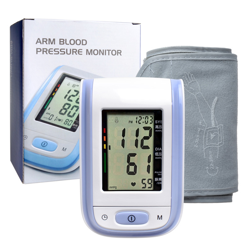Yonker Arm Blood Pressure LCD Display ABS Material automatic sphygmomanometers pressure meter digital sphygmomanometer purple(China (Mainland))