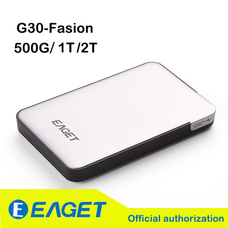 Original EAGET G30 500G/1T/2TB USB 3.0 High-Speed Extemely-thin Shockproof Encryption External Hard Drives Disk HDD Genuine(China (Mainland))