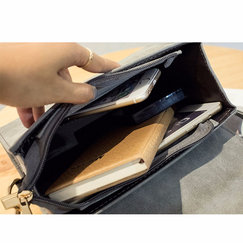 Nubuck Leather Crossbody Bag Succinct Square Bag Women Stylish PU Shoulder Bag Metallic Animal Ornament Ladies Small Handbag