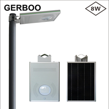 8W motion sensor integrated led all in one solar street light price(China (Mainland))