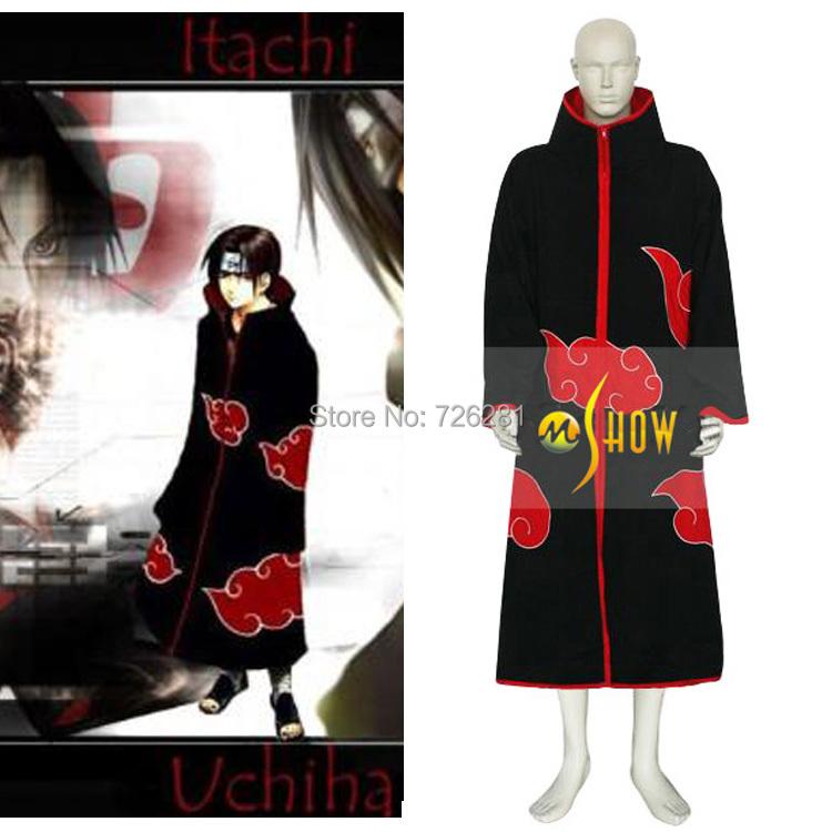 Naruto Akatsuki Itachi Uchiha Deluxe Men's Cosplay  Costume