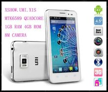 Free shipping UMI x1s android  phone MTK6589 1.2Ghz Quad-Core 1.2Ghz Android 4.2 smartphone 4GB ROM + 1GB RAM Russia Hebrew menu(China (Mainland))