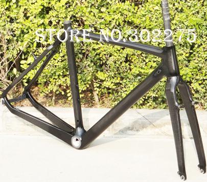Full Carbon 3K Glossy Cyclocross cross Bike Frame + Fork + Headset  SIZE: 51cm, 53cm, 55cm, 57cm