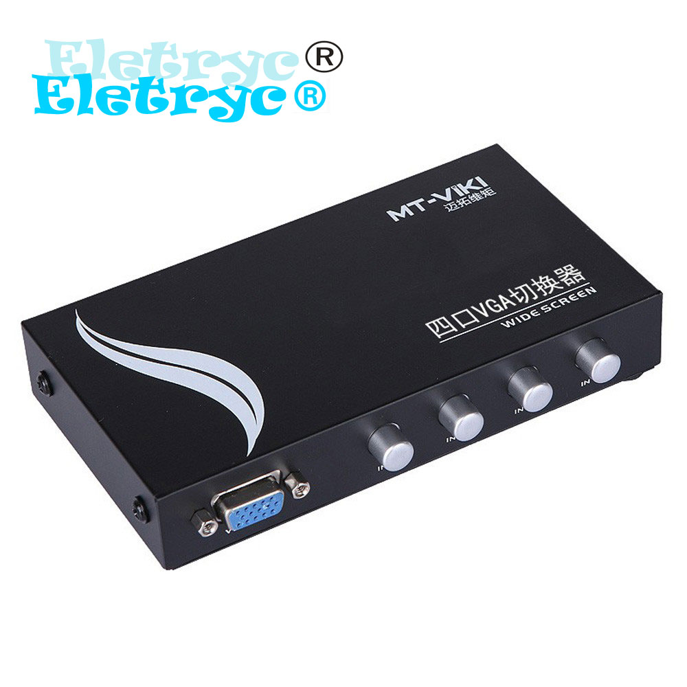 2016 Eletryc VGA Video Switch Box D-sub switcher selector 4 input Port 1 output 4 PCs share 1 monitor MT-15-4C(China (Mainland))