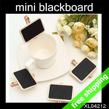 FREE SHIPPING mini blackboard store price show cute Message chalkboard Fashion creative promotion Gift 60pcs/lot say hi XL 04212