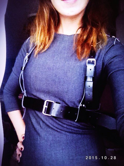 Мода Sexy женщины ЖГУТ Punk Rock улица ремень жгута проводов кузова прохладный воротник ...