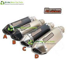 MOTORCYCLE EXHAUST Scooter Modified Akrapovic yoshimura Muffler exhaust pipe CBR 125 250 CB400 CB600 YZF FZ400 Z750 RACING(China (Mainland))