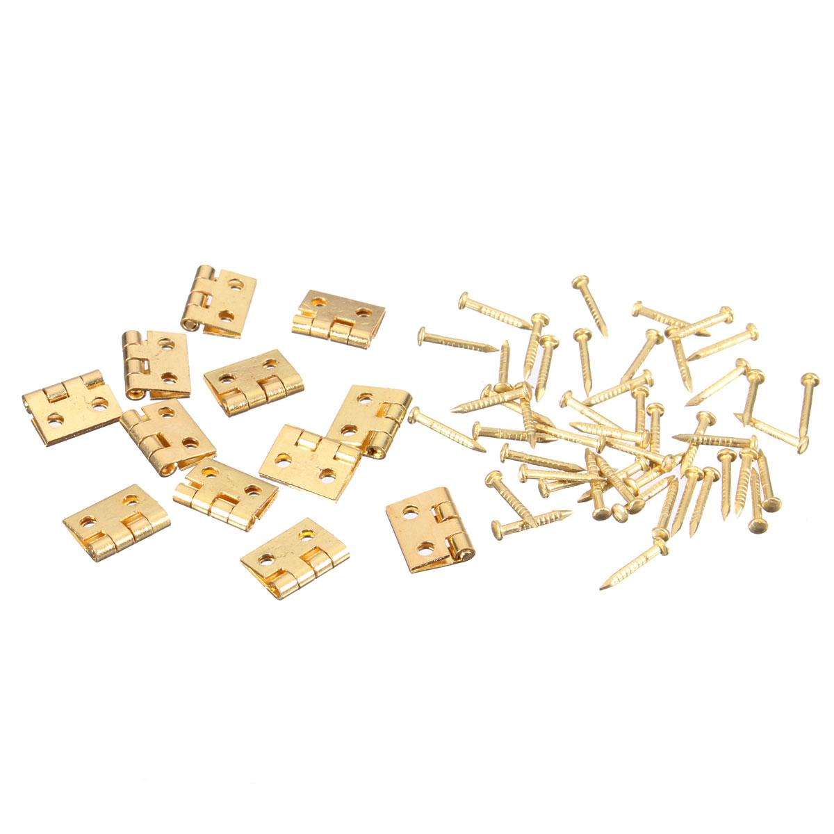 12Pcs Mini jewelry Box Repairing/ Doll House/ Cabinet/ Drawer Butt Hinges Screws(China (Mainland))