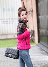 Latest Fashion Women Winter Jacket Elegant Standing collar Thick Super Warm Down jacket Big yards Slim Short Cotton Coat G1973