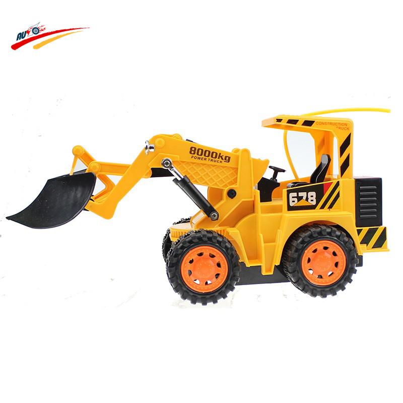 Engineering wireless Remote Control Simulation Bulldozer 4 wheel construction Truck Snow Clearer Pace Truck Electronic Toys(China (Mainland))
