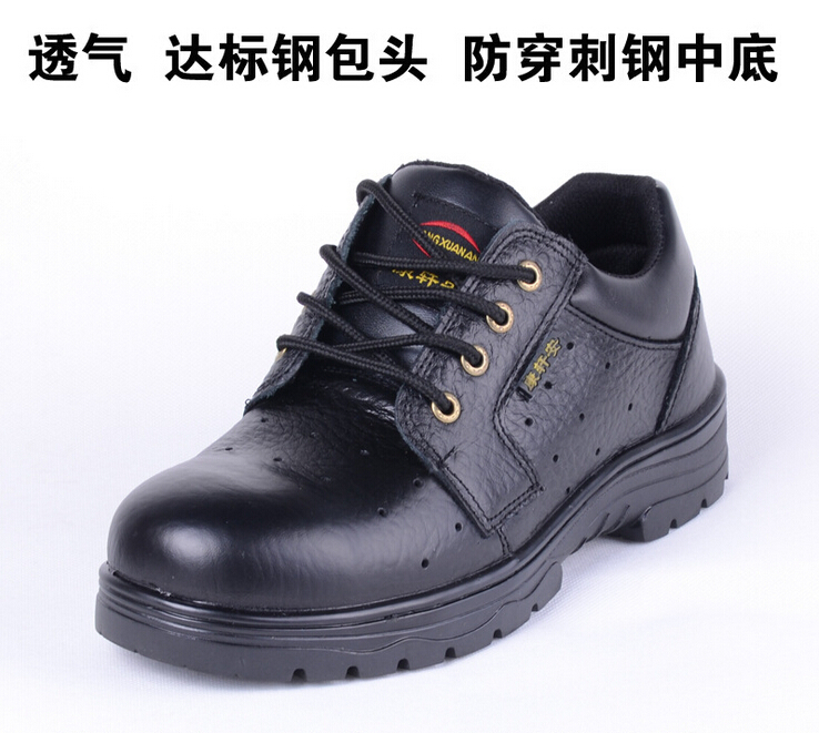 breathable women boots platform brand black leather boots puncture proof work & safety men shoes