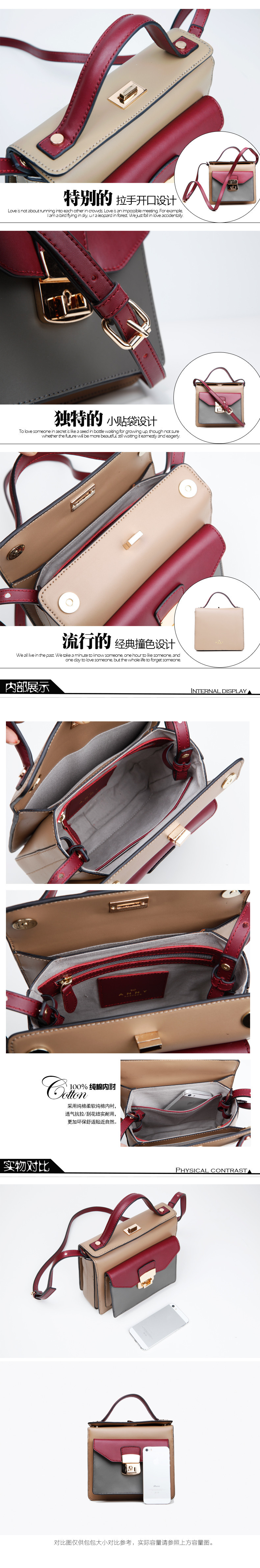 Anny Free Shipping Women's Leather Shoulder Bag  Mini Bag Leather