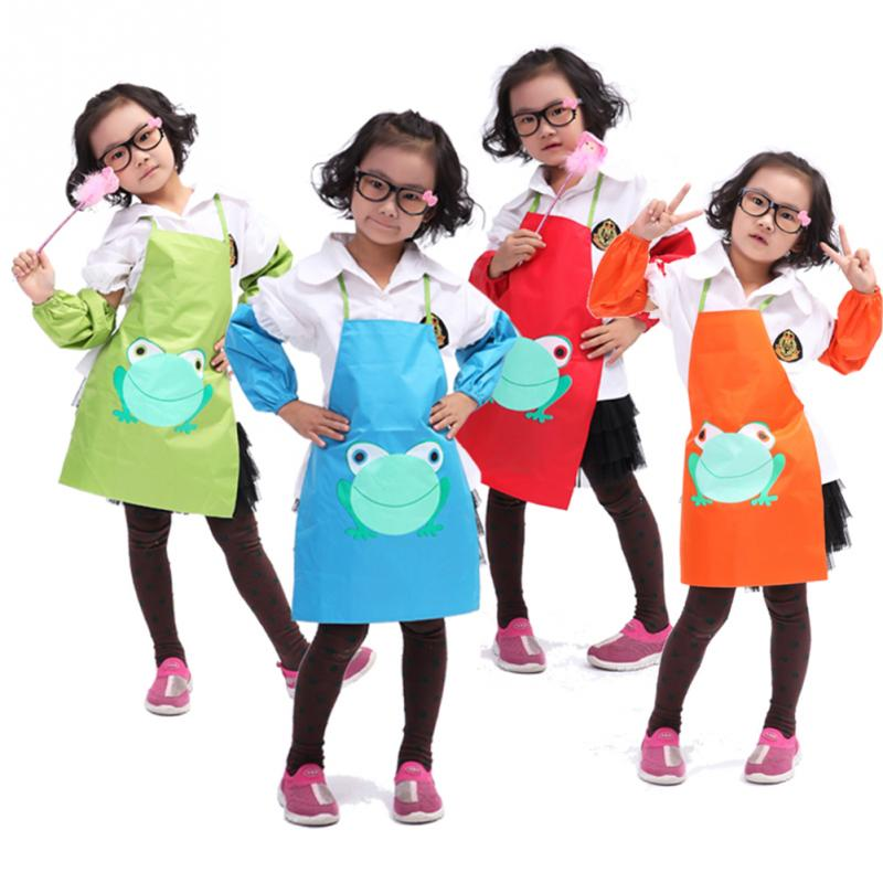 Popular Kids Cartoon Printed Painting Cooking Apron Cute Child Children Waterproof Children Apron(China (Mainland))