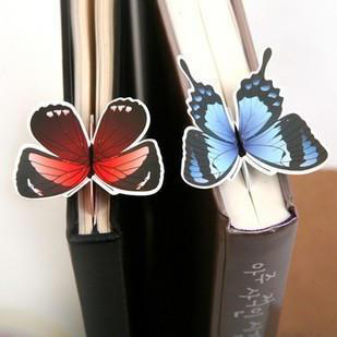 140pcs Supply stationery goods bookmark cute butterfly bookmark gift bookmark animal paper bookmark Students gift shpply(China (Mainland))