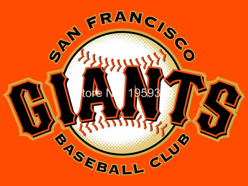 San Francisco Giants Personalized Flag 3 x 5ft MLB 150X90CM Banner metal holes Flag(China (Mainland))