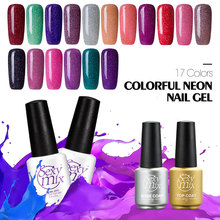 Sexy mix Newest Color Neon UV Nail Gel Polish 17 Colors Long Lasting Need Lamp Varnish Hot - SexyMix Cosmetics store
