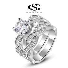 ROXI Christmas Gift Classic Genuine Austrian Crystals Fashion Princess Ring 100% Man-made Big OFF Christmas