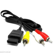 AV Audio/Video Composite Cable for Nintendo N64 SNES Super GameCube TV 6FT