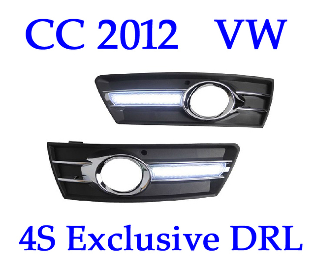 High Quality!! CC 2012 2013 VW  Passat Running Lights , Car LED Daylight DRL 4S Shop Fog Lamp , 2pc , CE EMARK Free Shipping
