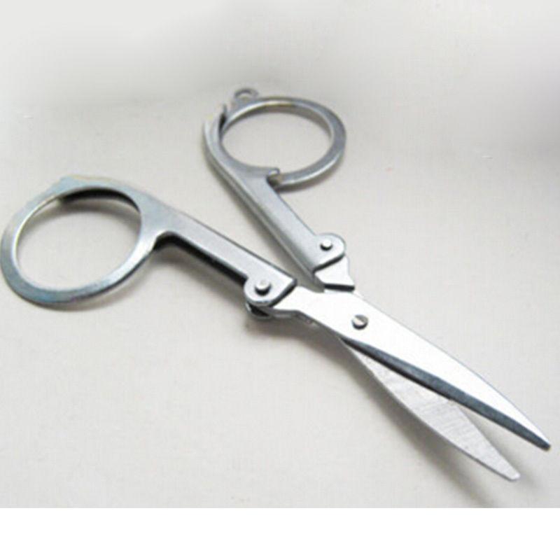 EDC Folding Scissors Pocket Travel Small Cutter Crafts Sharp Blade Emergency