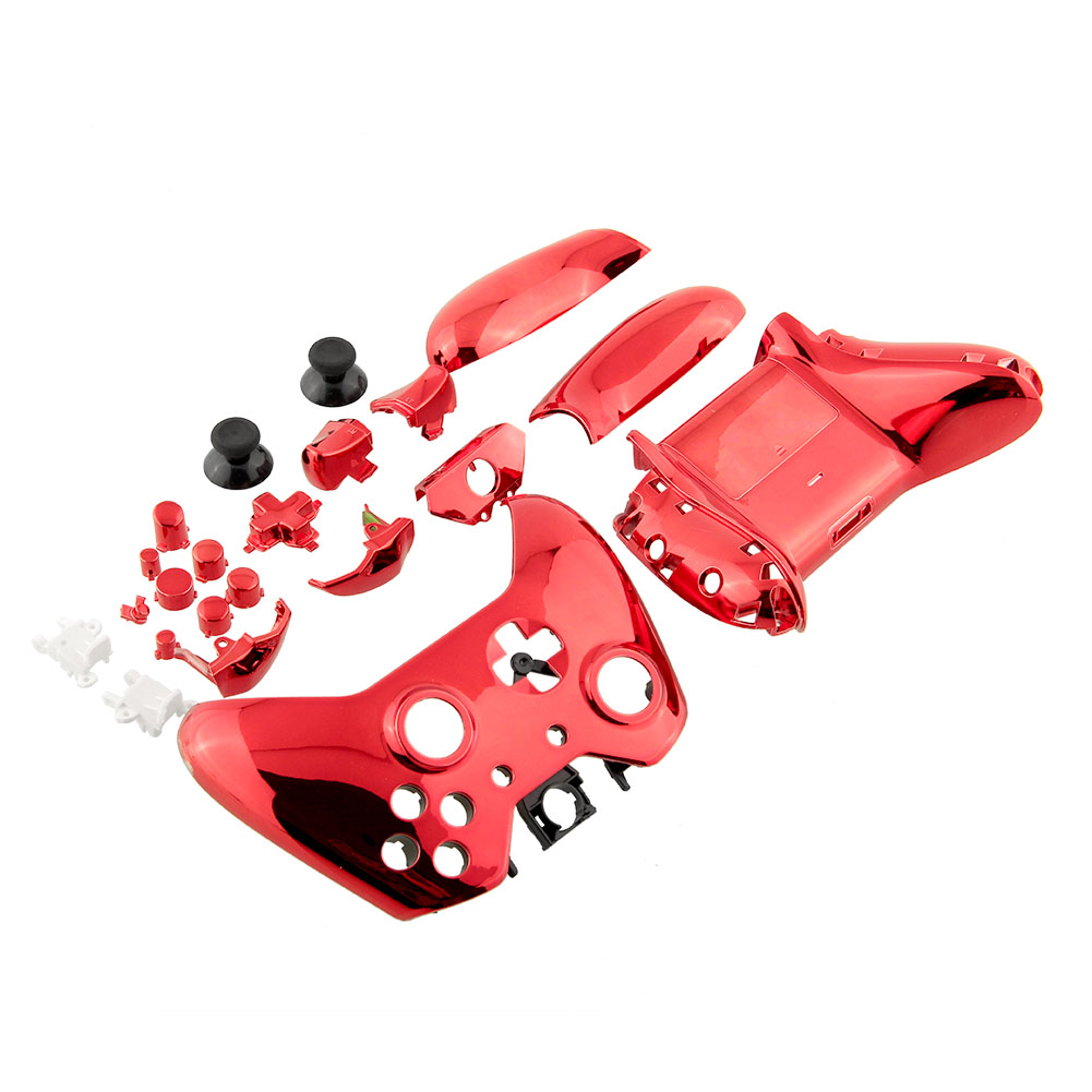 Hot Wireless Controller Shell Case Housing Chrome Red Repair Parts For Xbox One Gamepad Replacement(China (Mainland))