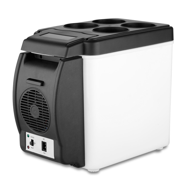 Portable Car Refrierator 12V 6L Multi-Function Home Cooler Box Freezer Wamer bag(China (Mainland))