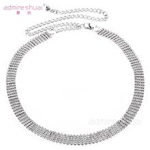 Buy 2016 New Korean 5 Rows Silver Crystal Rhinestone Waist Chain Belts Female Wide Dress Metal Belt Ceinture Femme BL-495-5 for $9.72 in AliExpress store
