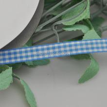 Upick 3 8 10mm Blue One Roll font b Tartan b font Plaid Ribbon Bows Appliques